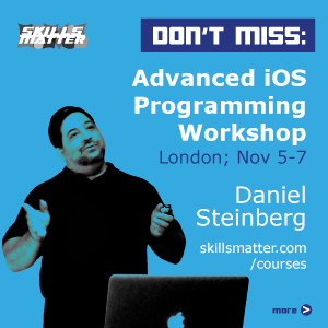 Don't miss! Daniel Steinberg's Advanced iOS Programming Workshop